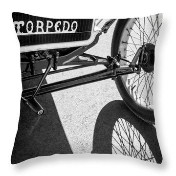 1911 Ford Model T Torpedo Grille Emblem Throw Pillow by Jill Reger