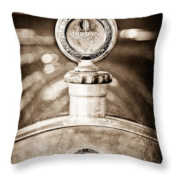 1913 Chalmers Model 18 Jordan Motometer Throw Pillow by Jill Reger