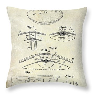 1927 Football Patent Drawing  Throw Pillow