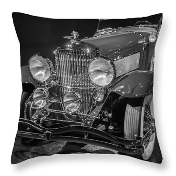 1929 Duesenberg Model J Throw Pillow by Roger Mullenhour