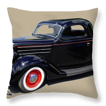 1936 Ford 3 Window Coupe Throw Pillow by Jack Pumphrey