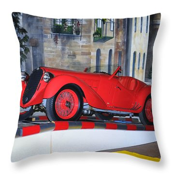 1937 Alfa Romeo 8c 2900a Throw Pillow