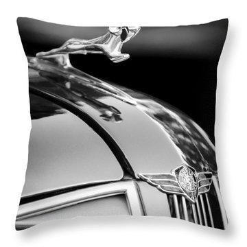 1937 Dodge Hood Ornament - Emblem Throw Pillow by Jill Reger