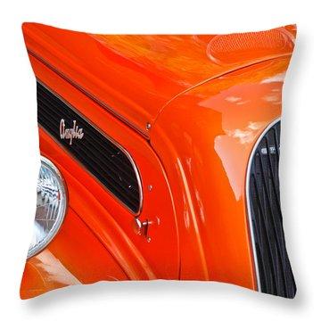 1948 Anglia 2-door Sedan Grille Emblem Throw Pillow by Jill Reger