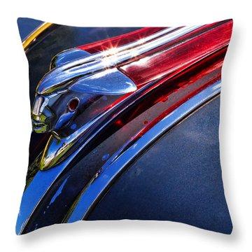 1948 Pontiac Silver Streak Hood Ornament Throw Pillow by Gordon Dean II