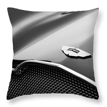 1953 Aston Martin Db2-4 Bertone Roadster Hood Emblem Throw Pillow by Jill Reger