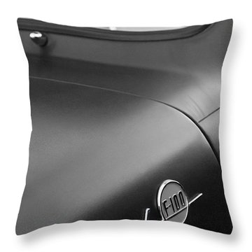 1953 Ford F-100 Pickup Truck Steering Wheel And Emblem Throw Pillow by Jill Reger