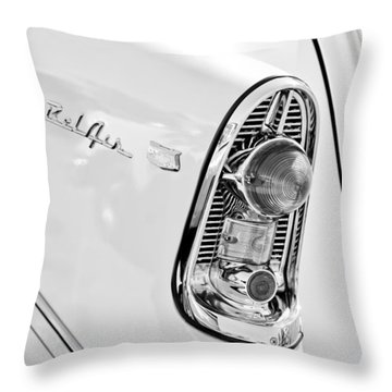 1956 Chevrolet Beliar Nomad Taillight Emblem Throw Pillow