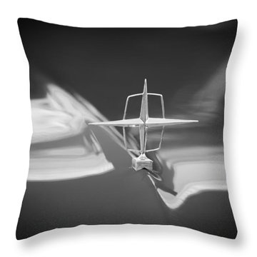 1957 Lincoln Continental Hood Ornament Throw Pillow