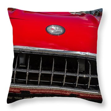 1958 Chevrolet Corvette Grille Throw Pillow