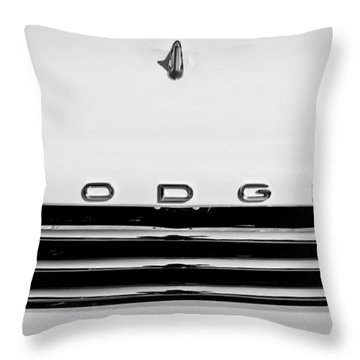 1958 Dodge Sweptside Truck Grille Throw Pillow