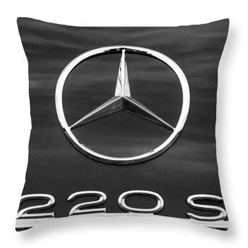 1958 Mercedes-benz 220s Cabriolet Emblem Throw Pillow