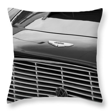 1960 Aston Martin Db4 Grille Emblem Throw Pillow by Jill Reger