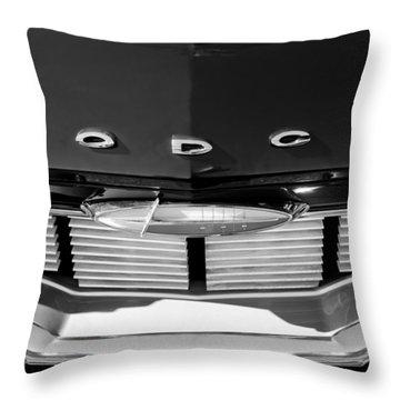 1960 Dodge Grille Emblem Throw Pillow by Jill Reger