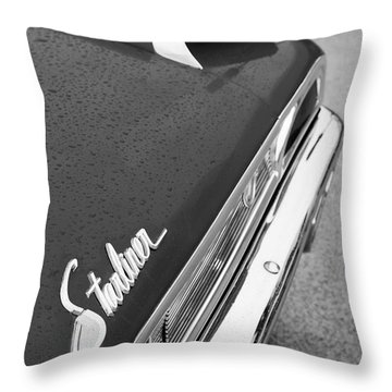 1960 Ford Galaxie Starliner Taillight Emblem Throw Pillow by Jill Reger