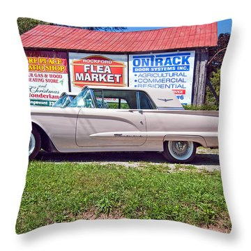 1960 Thunderbird  Throw Pillow