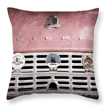 1960 Triumph Tr3 Grille Emblems Throw Pillow by Jill Reger
