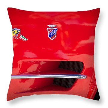 1962 Fiat Abarth 2300 S Coupe Emblems Throw Pillow by Jill Reger