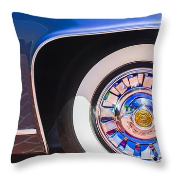 Throw Pillow featuring the photograph 1962 Ghia L6.5 Coupe Wheel Emblem by Jill Reger