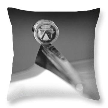 1963 Ford Futura Hood Ornament Throw Pillow by Jill Reger