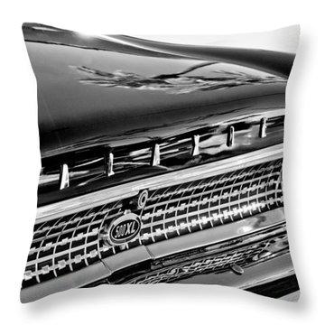 1963 Ford Galaxie 500xl Taillight Emblem Throw Pillow by Jill Reger