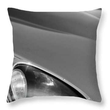 1963 Jaguar Xke Roadster Headlight Throw Pillow by Jill Reger