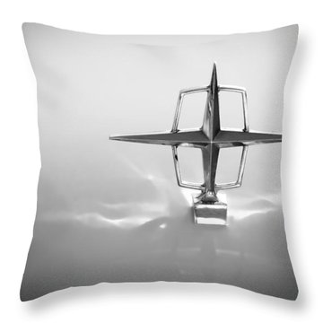 1963 Lincoln Continental Hood Ornament Throw Pillow