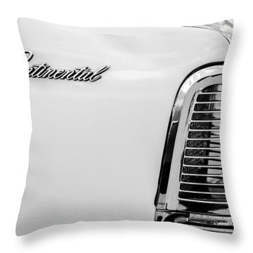 1963 Lincoln Continental Taillight Emblem -0905bw Throw Pillow