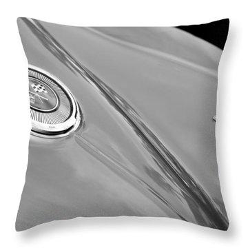 1966 Chevrolet Corvette Coupe Emblems Throw Pillow