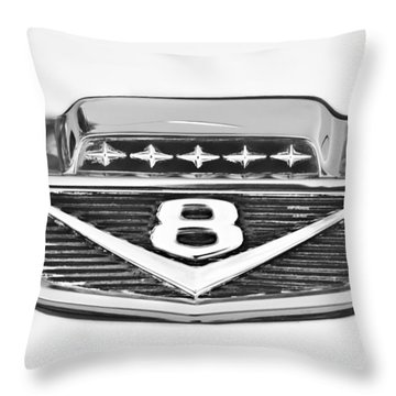 1966 Ford F100 Pickup Truck Emblem Throw Pillow