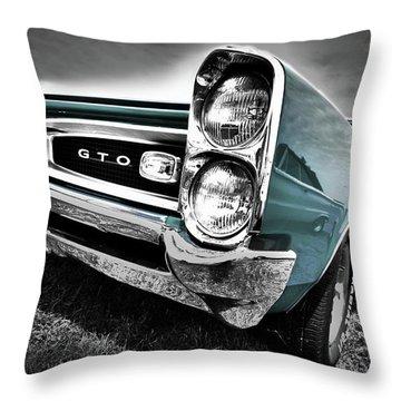 1966 Pontiac Gto Throw Pillow by Gordon Dean II