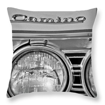 1967 Chevrolet El Camino Pickup Truck Headlight Emblem Throw Pillow by Jill Reger
