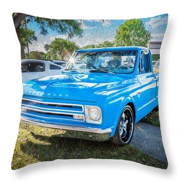 Chevy C10 Throw Pillows