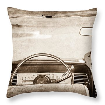 1967 Lincoln Continental Steering Wheel Throw Pillow