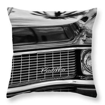 1969 Cadillac Eldorado Grille Throw Pillow by Jill Reger