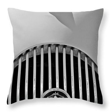 1969 Morgan Roadster Grille Emblems Throw Pillow by Jill Reger