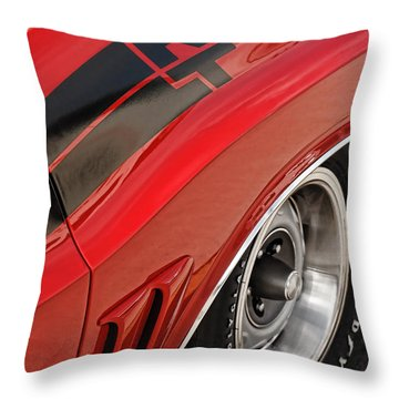 Throw Pillow featuring the photograph 1970 Dodge Challenger R/t by Gordon Dean II