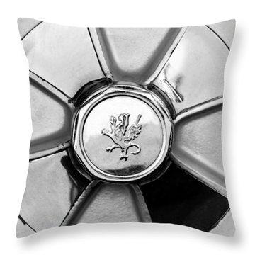1971 Iso Fidia Wheel Emblem Throw Pillow by Jill Reger