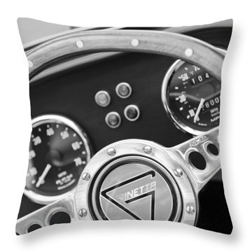 1972 Ginetta Steering Wheel Emblem Throw Pillow