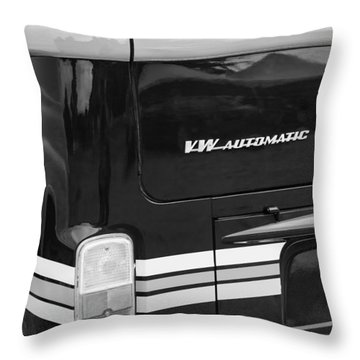 1978 Volkswagen Vw Champagne Edition Bus Taillight Emblem Throw Pillow by Jill Reger