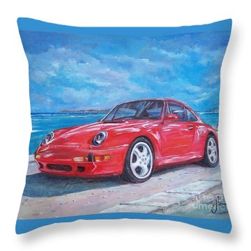 1997 Porsche Carrera S Throw Pillow