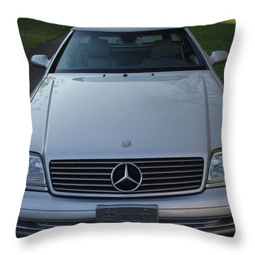 1999 Mercedes Sl500 Throw Pillow by James C Thomas