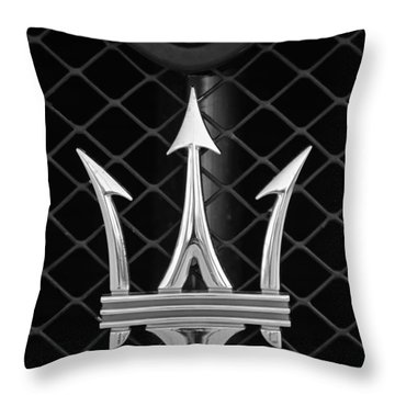 2005 Maserati Gt Coupe Corsa Emblem Throw Pillow