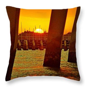 2013 First Sunset Under North Bridge 3 Throw Pillow