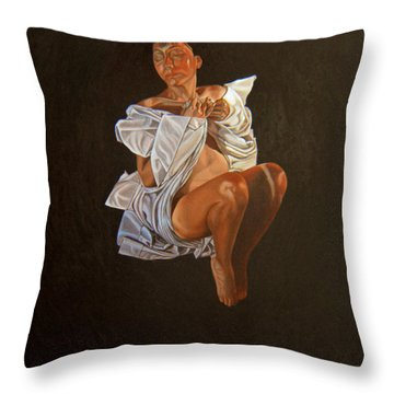 Throw Pillow featuring the painting 1 30 Am by Thu Nguyen