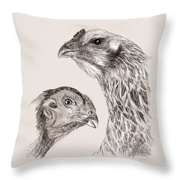 51. Game Hens Throw Pillow