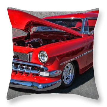 '54 Chevy Throw Pillow by Victor Montgomery