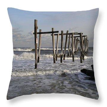 59th St. Pier Throw Pillow
