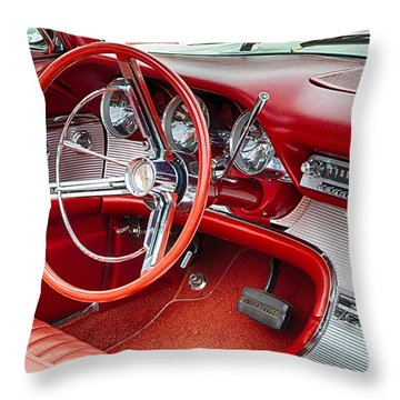 62 Thunderbird Interior Throw Pillow
