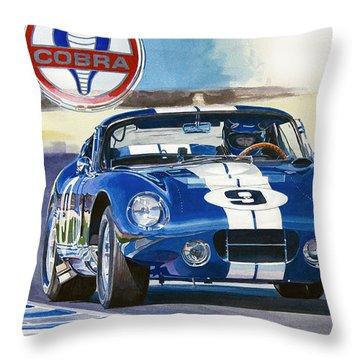 64 Cobra Daytona Coupe Throw Pillow